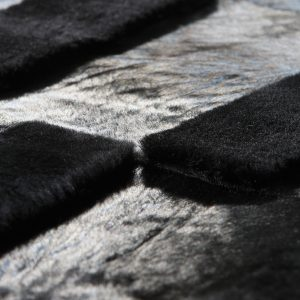 Baltik Cowhide and sheepskin rug - Norki